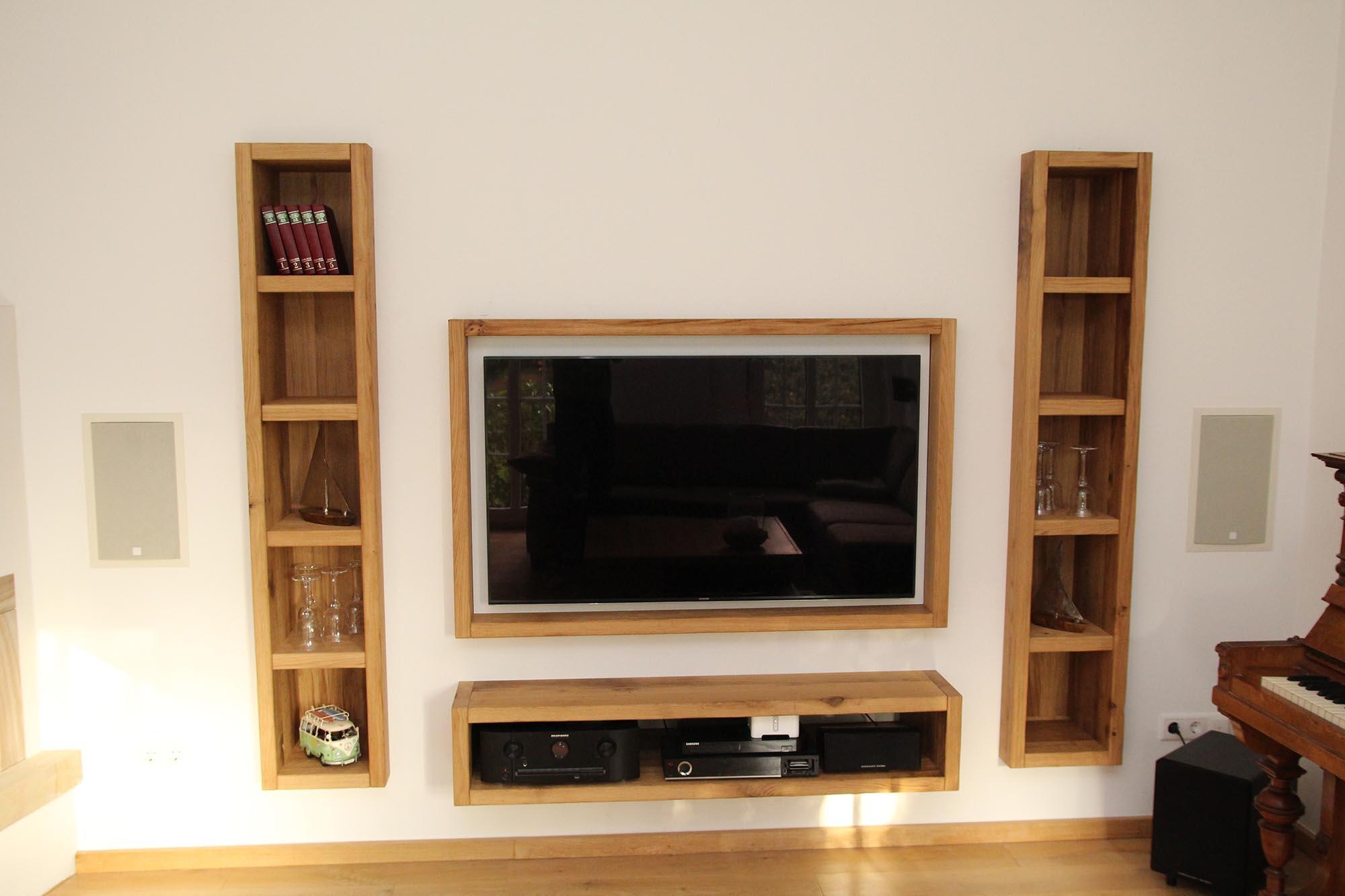 tv m bel in wand eingelassen tischlerei hehmann. Black Bedroom Furniture Sets. Home Design Ideas